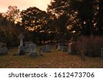 Cemetary During An Orange...