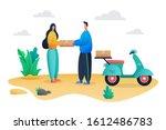 delivery service illustration... | Shutterstock .eps vector #1612486783
