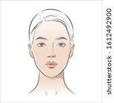 vector woman face. young... | Shutterstock .eps vector #1612492900