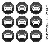 car icons glossy button icon set | Shutterstock .eps vector #161251874
