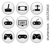 video game icons glossy white... | Shutterstock .eps vector #161252810