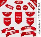new tag ribbons set collection | Shutterstock .eps vector #1612541269