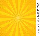 template vintage pop art yellow ... | Shutterstock .eps vector #1612552306