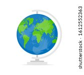 globe on a stand in a flat... | Shutterstock .eps vector #1612552363