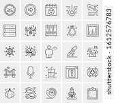 25 universal icons vector... | Shutterstock .eps vector #1612576783
