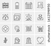 16 business universal icons...   Shutterstock .eps vector #1612598950