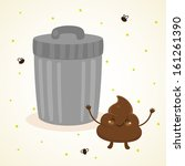 cute turd and trash | Shutterstock .eps vector #161261390
