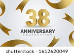 38 anniversary celebration with ...   Shutterstock .eps vector #1612620049
