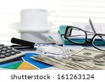 business accounting  | Shutterstock . vector #161263124