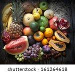 exotic fruits variety still... | Shutterstock . vector #161264618