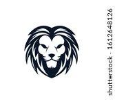 lion head vector icon... | Shutterstock .eps vector #1612648126