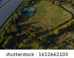 Baseball Field And Solar Panels ...