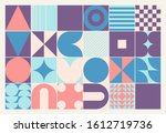 modern artwork of abstract... | Shutterstock .eps vector #1612719736