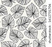 seamless hand drawn leaves... | Shutterstock .eps vector #1612731706