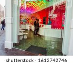 Small photo of London, England - September 29 2015 : Snog Frozen Yogurt store, Brewer Street in Soho