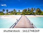 Beautiful Maldives Beach With...