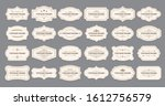 ornamental label frames. old... | Shutterstock . vector #1612756579