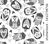 arctic seamless pattern with... | Shutterstock .eps vector #1612758736