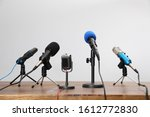 Set Of Different Microphones On ...
