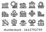 roller coaster icons set.... | Shutterstock .eps vector #1612792759