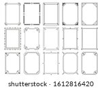 vintage calligraphic frames.... | Shutterstock . vector #1612816420