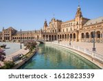 The Central Square Of Seville...