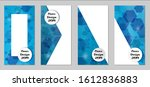 modern tech covers with blue...   Shutterstock .eps vector #1612836883