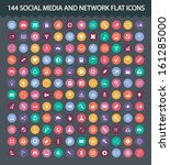 121 social media and network... | Shutterstock . vector #161285000