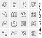 16 business universal icons...   Shutterstock .eps vector #1612866769