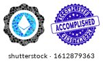 mosaic ethereum seal icon and... | Shutterstock .eps vector #1612879363