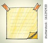note pad sketchbook   vector... | Shutterstock .eps vector #161292920