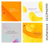 dynamic style cover design... | Shutterstock .eps vector #1612946590