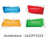 set of trendy banners of... | Shutterstock .eps vector #1612971223
