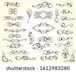 elegant floral scrollwork... | Shutterstock .eps vector #1612983280
