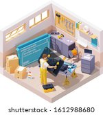 vector isometric smartphone...   Shutterstock .eps vector #1612988680