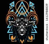illustration of a horned... | Shutterstock .eps vector #1612988839