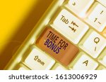 handwriting text time for bonus.... | Shutterstock . vector #1613006929