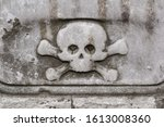 Skull and crossbones as relief...