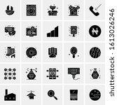 25 universal icons vector...   Shutterstock .eps vector #1613026246