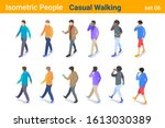 isometric casual people flat... | Shutterstock .eps vector #1613030389