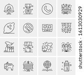16 business universal icons...   Shutterstock .eps vector #1613030929
