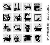 elegant vector black cleaning...   Shutterstock .eps vector #161306813