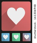 basic heart simple flat icon... | Shutterstock .eps vector #161306948