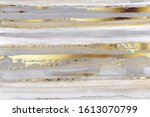 luxury grey watercolor and gold ... | Shutterstock .eps vector #1613070799