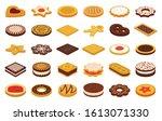 cookie of food cartoon vector... | Shutterstock .eps vector #1613071330