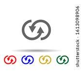 arrow multi color style icon....