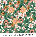 elegant floral pattern in small ... | Shutterstock .eps vector #1613102923