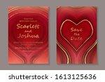 set of modern luxury wedding...   Shutterstock .eps vector #1613125636