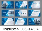 abstract presentation templates ... | Shutterstock .eps vector #1613152213