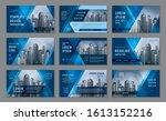 abstract presentation templates ... | Shutterstock .eps vector #1613152216